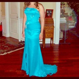 Turquoise Strapless Evening/Prom Dress by Tiffany